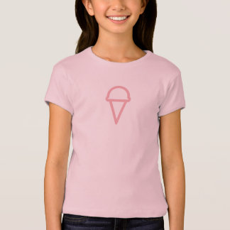 Simple Pİnk Ice Cream Icon Shirt