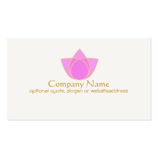 Simple Pink Lotus Flower Business Card