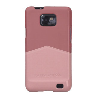 Simple pink mauve design samsung galaxy s2 cases