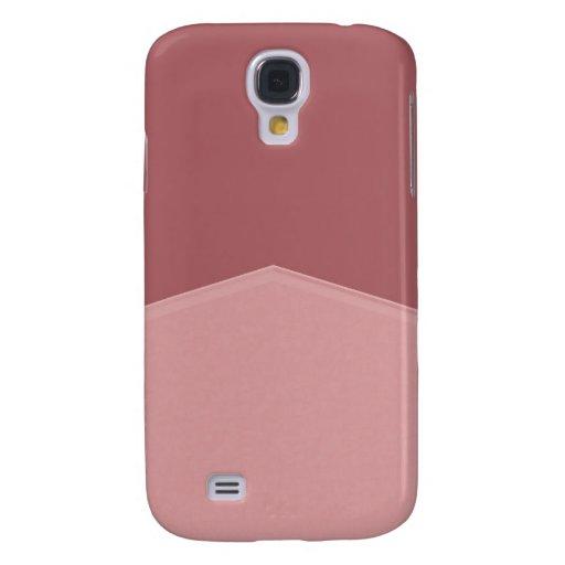 Simple pink mauve design galaxy s4 cases