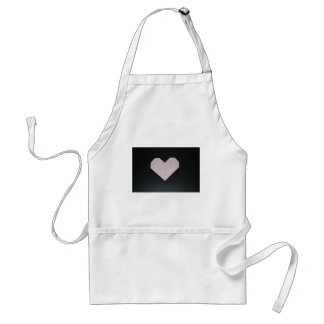simple pink origami heart standard apron