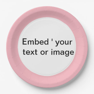 Simple pink paper plate