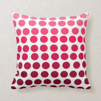 Simple Pink Red Gradient Polka Dots Cushion