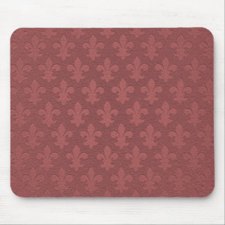 Simple pink salmon imperial fleur de lis mouse mat