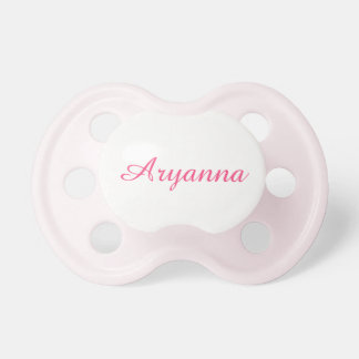 Simple Pink Script Custom Baby Girls' Name Dummy