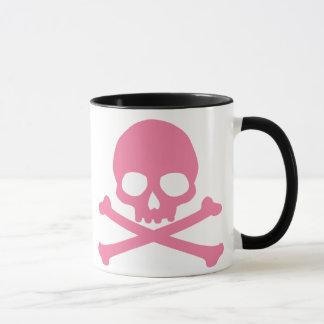 SImple Pink Skull and Crossbones Mug