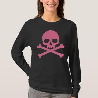 SImple Pink Skull and Crossbones T-Shirt