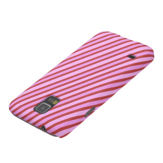 Simple Pink Stripes Case For Galaxy S5