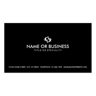 simple pisces business card template