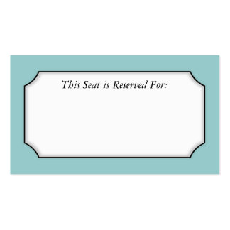 Simple Place Card Pack Of Standard Business Cards