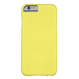 Simple Plain Banana Yellow Solid Color Custom Barely There iPhone 6 Case