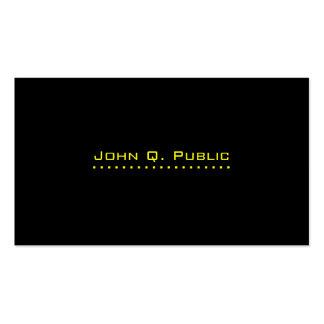 Simple Plain Black Business Card