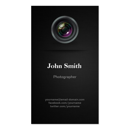 Premium photography business card templates simple plain black photographer cinematographer business cards reheart Image collections