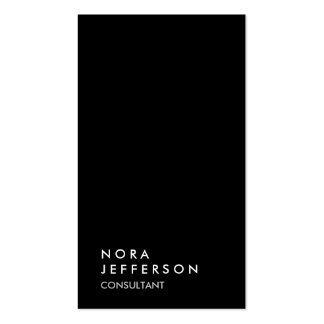 Simple Plain Black Red Trendy Consultant Pack Of Standard Business Cards