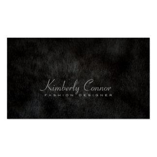Simple Plain Black Smooth Fur Fashion Card Business Card Template