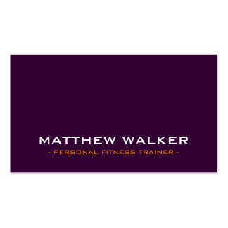 SIMPLE plain bold modern dark aubergine orange Pack Of Standard Business Cards