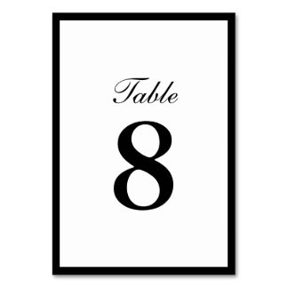 Simple Plain Border Double-sided Table Numbers Table Card