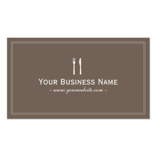 Simple Plain Brown Dining Catering Business card