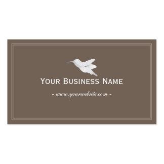 Simple Plain Brown Hummingbird Business card