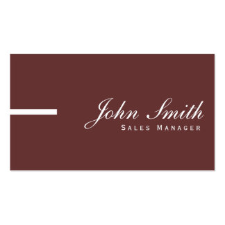 Simple Plain Brown Sales Manager Business Card