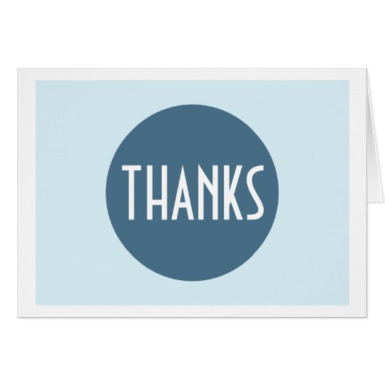 Simple Plain Cool Blue White Thank You Note Card