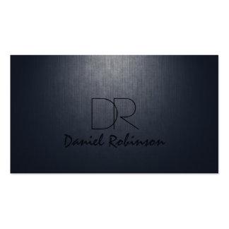 Simple Plain Dark Blue Custom Monogram Card Business Cards