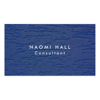 Simple Plain Elegant Modern Blue Wall Minimalist Pack Of Standard Business Cards