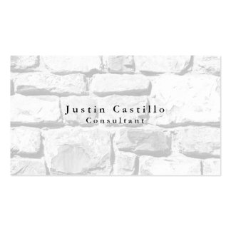 Simple Plain Elegant Wall Stones Modern Pack Of Standard Business Cards