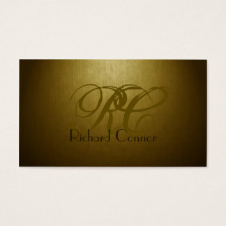 Simple Plain Gold Custom Monogram Cool Card
