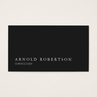 Simple Plain Gray Professional Business Card