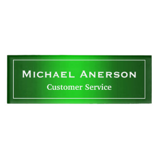 Simple Plain Green Cool Gradient Personalized Name Tag