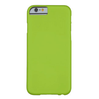 Simple Plain Green Solid Color Custom Barely There iPhone 6 Case