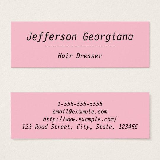 Simple & Plain Hair Dresser Business Card