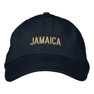 Simple Plain Jamaica Word Custom Color Embroidered Hat