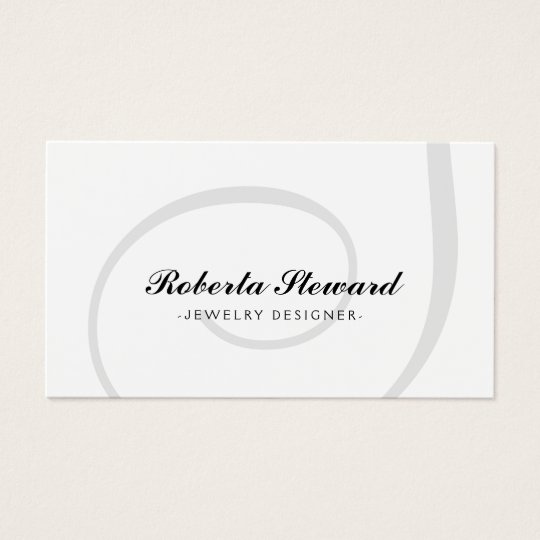 Simple Plain Jewellery Designer Cool Card