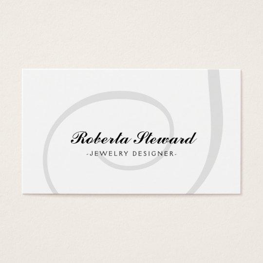 Simple Plain Jewellery Designer Cool Card