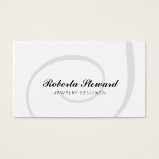 Simple Plain Jewelry Designer Cool Card