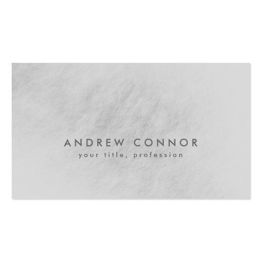 Simple Plain Light Grey Stone Texture Card Business Card Template