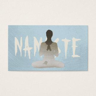 Simple Plain Mint Blue Mediation & Yoga Business Card