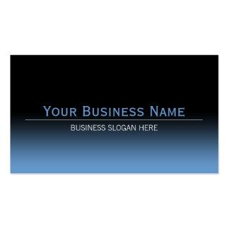 Simple Plain Modern Black & Blue Gradient Pack Of Standard Business Cards