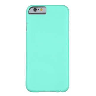 Simple Plain Neon Teal Solid Color Custom Barely There iPhone 6 Case