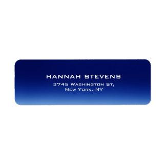 Simple Plain Night Blue Elegant Modern Return Address Label