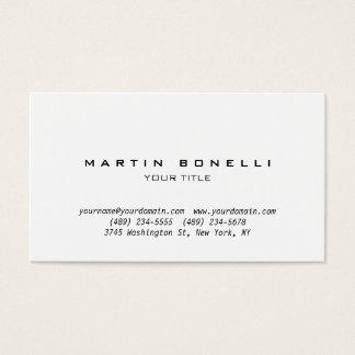 Simple Plain Professional Business Card