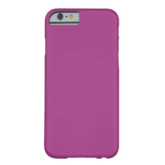 Simple Plain Purple Solid Color Custom Barely There iPhone 6 Case