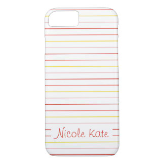 simple plain stripes trendy colors custom monogram iPhone 7 case