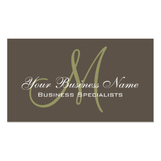 Simple Plain Taupe Green Business Card