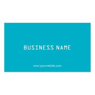 Simple Plain Turquoise Minimalism Business Cards