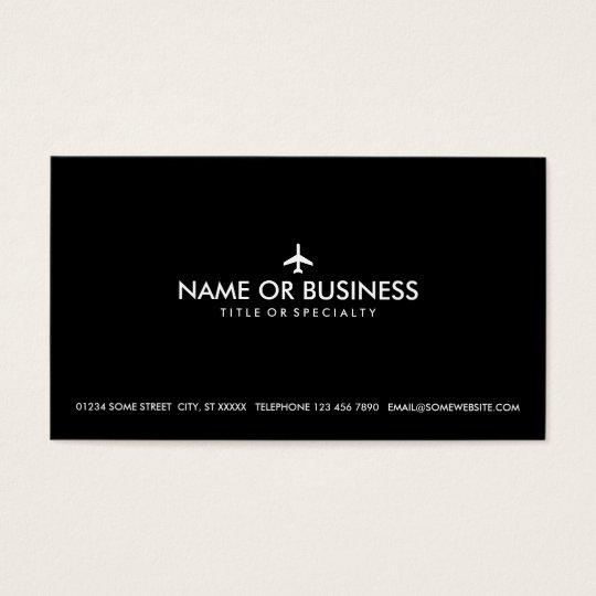 simple plane business card