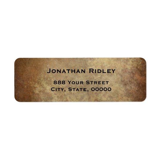 Simple Plate Metalic Copper Return Address Label