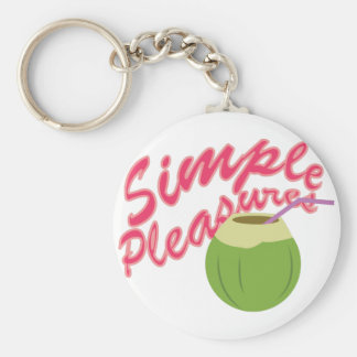 Simple Pleasures Basic Round Button Key Ring